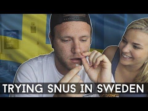 TRYING SNUS IN SWEDEN