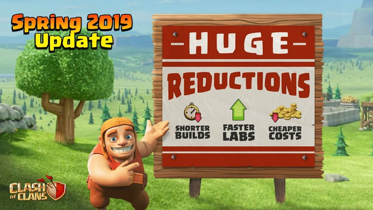 clash of clans spring update 2019 in game economy. Black Bedroom Furniture Sets. Home Design Ideas