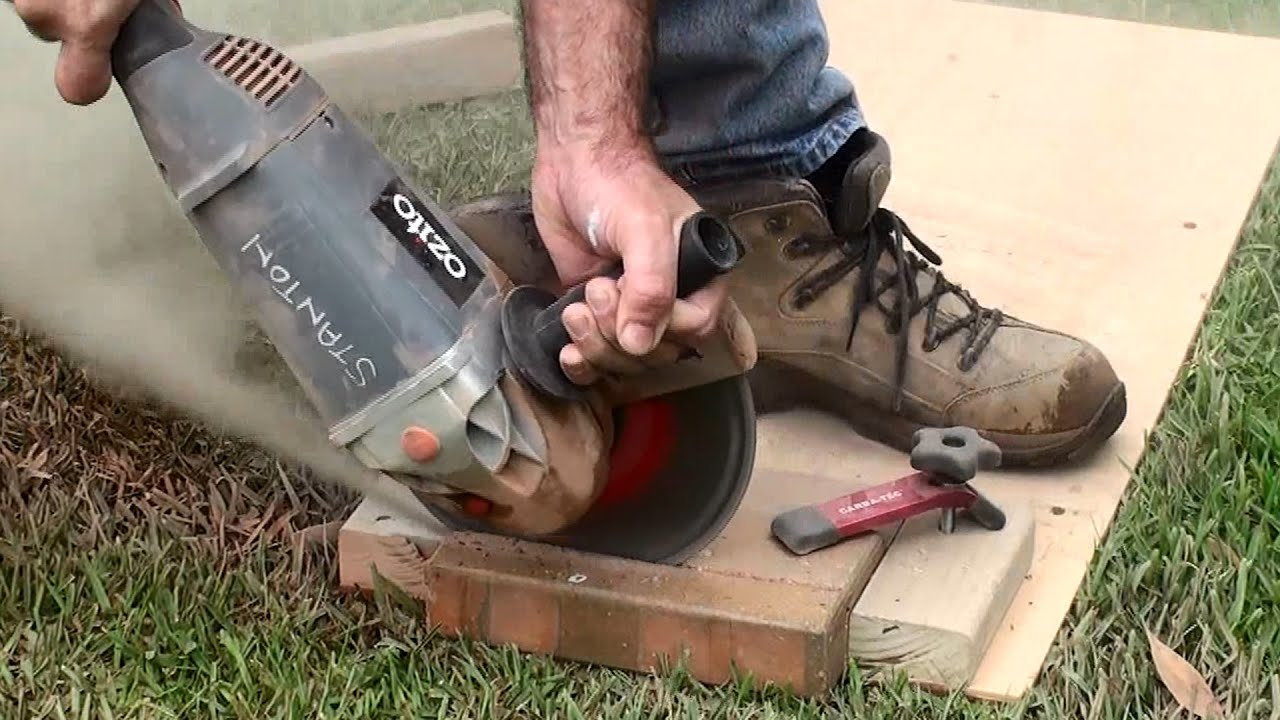 Superb How To | Cut Paving Bricks | Jig For Holding Paving Bricks | Dave Stanton    YouTube