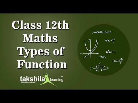 CBSE Class12 Mathematics Online Classes |Types of functions | Maths | ICSE| NCERT Solution