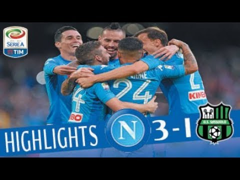 Napoli - Sassuolo 3-1 - Highlights -...