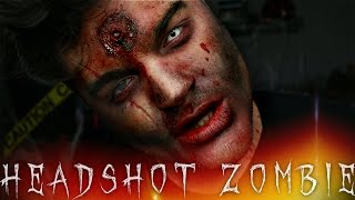 Headshot Zombie Halloween Makeup Tutorial | 31 Days of Halloween