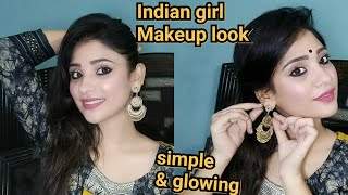 Indian girl Makeup look #2    glowy and simple    shystyles