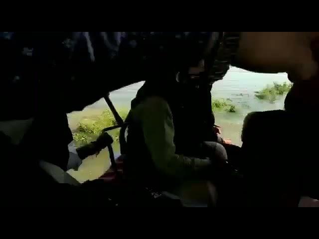 मुख्यमंत्री पुष्कर सिंह धामी ने आपदा ग्रस्त क्षेत्र का ट्रैक्टर में बैठकर किया निरीक्षण