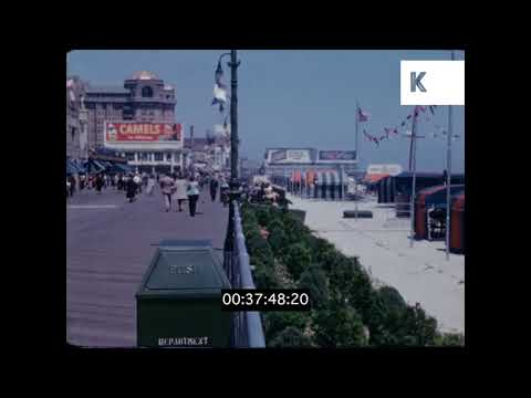 1950s Atlantic City Boardwalk and Street Scenes
