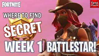 Comment trouver SECRET Semaine 1 BATTLESTAR! Plus Semaine 2 Challenge Info! (Fortnite Battle Royale)