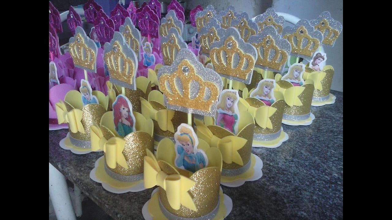 Super Centro de Mesa Princesas Disney em eva- para Festa Infantil - YouTube LO53
