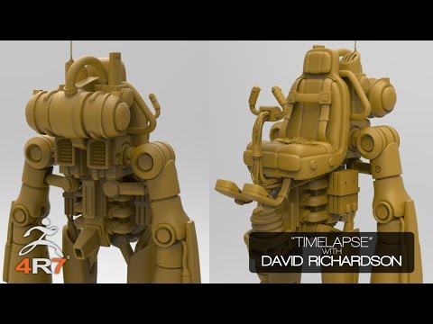 David Richardson ZBrush 4R7 Timelapse