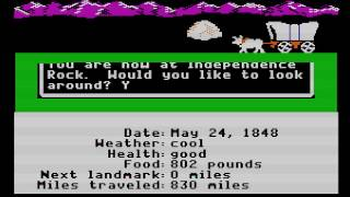 The Oregon Trail - Banker from Boston(APPLEII) - Vizzed.com GamePlay - User video