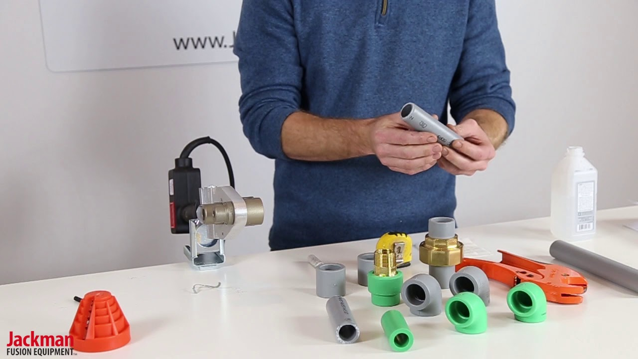 PPR Socket Fusion Demonstration | Jackman Fusion Equipment