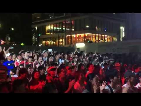 勝利の瞬間 日本 対 サモア ラグビーワールドカップ 調布ファンゾーン