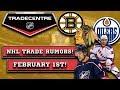 NHL Trade Rumors! Oilers, Jackets, Bruins! (Feb 1st)