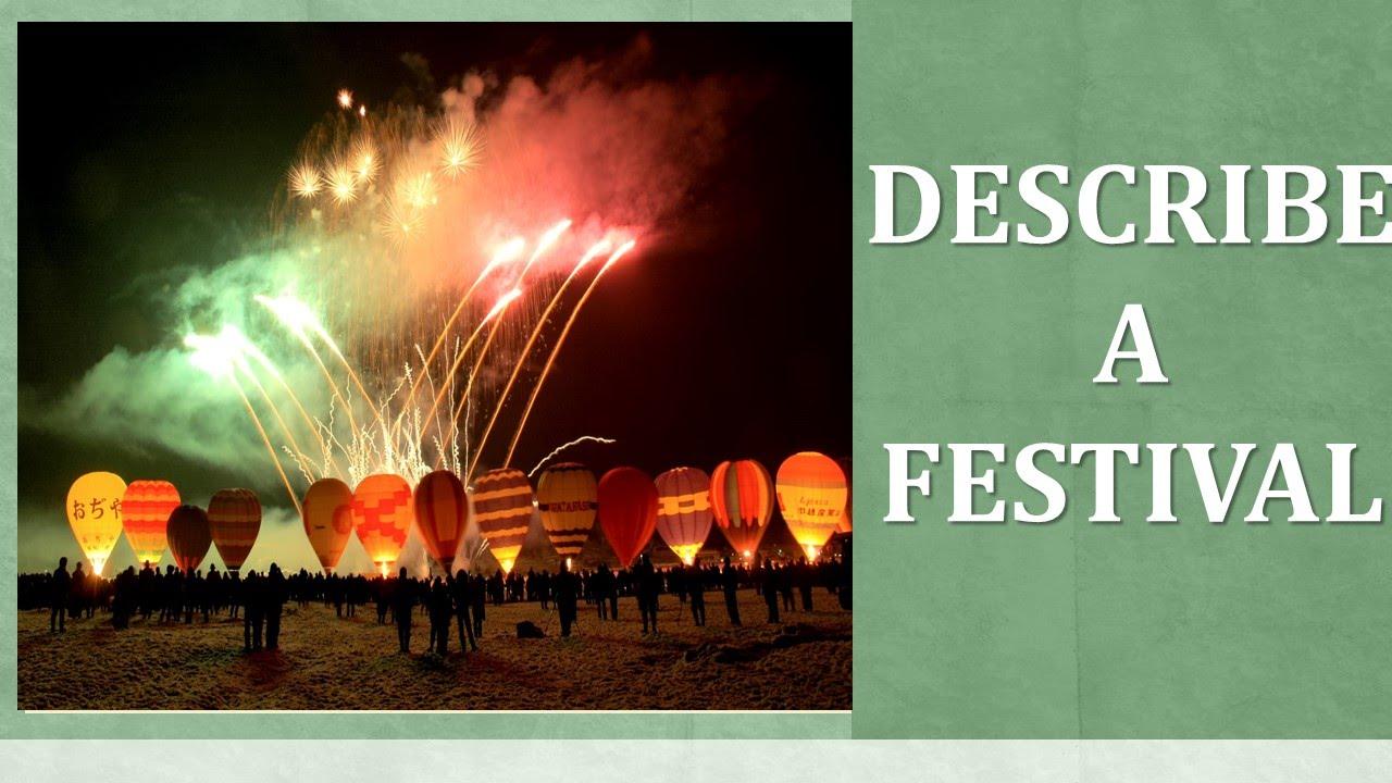 writing an article describing a festival