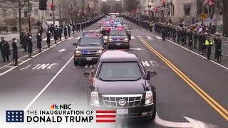 'The Beast' Leads Presidential Motorcade To The Capitol | NBC News