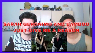 Sarah Geronimo and Bamboo singing Just Give Me A Reason