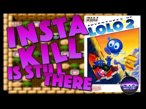 Insta-Kill is still there - Dads Play Adventures of Lolo 2 - Retro Lets Play with Commentary