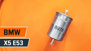 Hvordan bytte drivstoffilter på BMW X5 E53 BRUKSANVISNING   AUTODOC