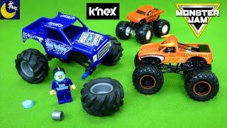 Building Our Own Monster Jam Monster Trucks Knex Toy Blue Thunder El Toro Loco Diecast Toys Video