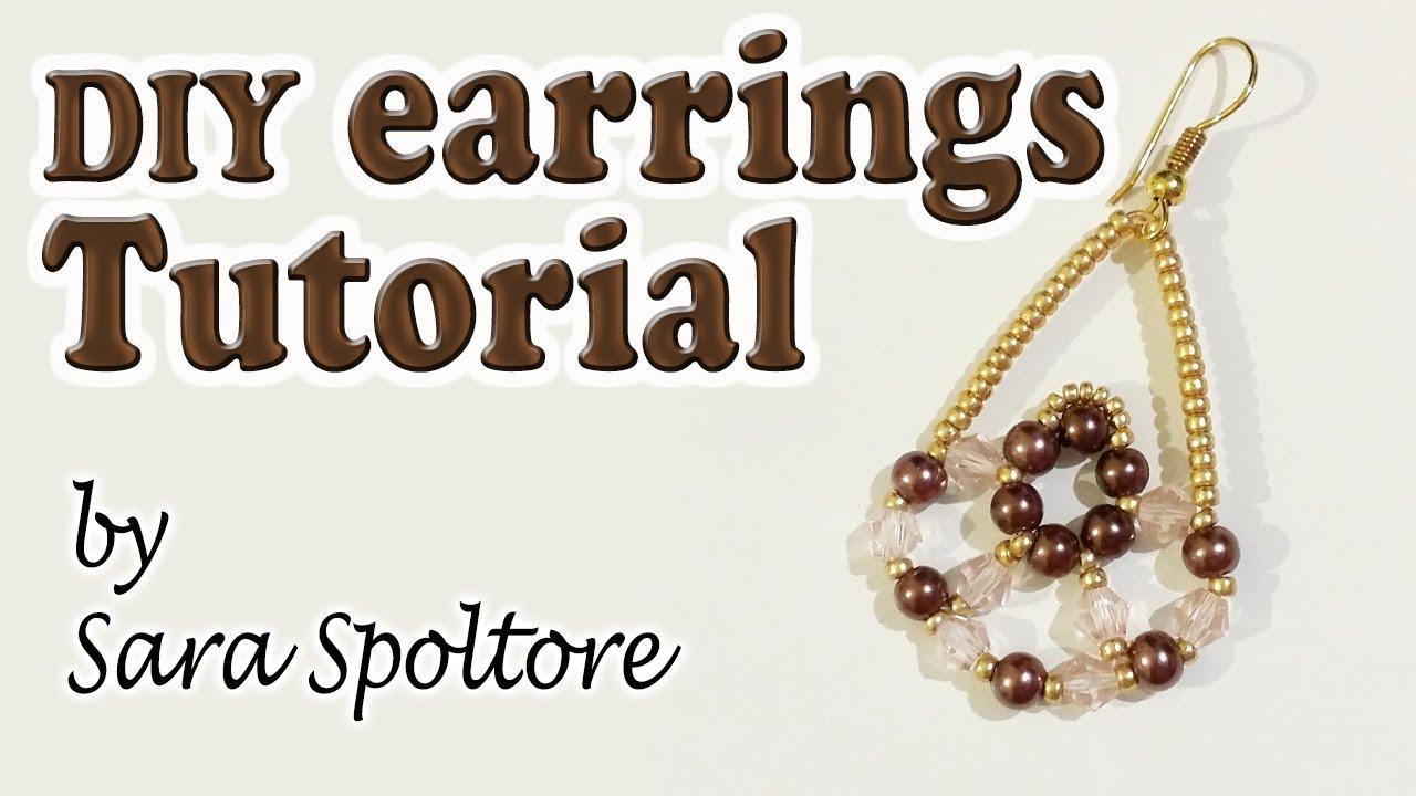 BeadsFriends: DIY earrings for beginners - Beaded earring ...