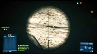 Battlefield 3 Sniper Xbox 360 Gameplay with Commentary (Operation Firestorm - 16-0))