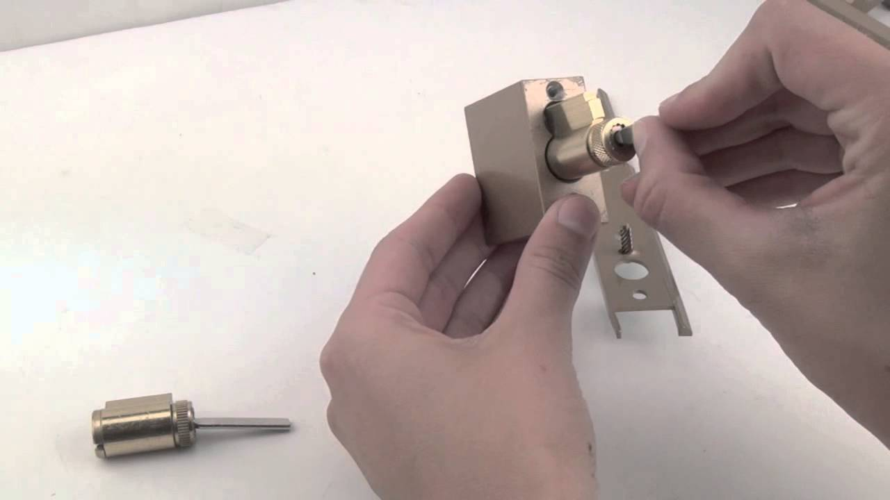 Replacing The Cylinder In A Pella Sliding Door Lock