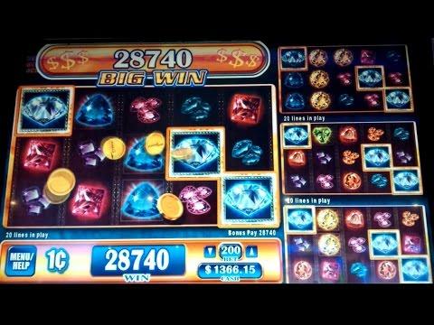 Gems Gems Gems Slot Machine *VERY RARE* 12x Multiplier BIG WIN Bonus!