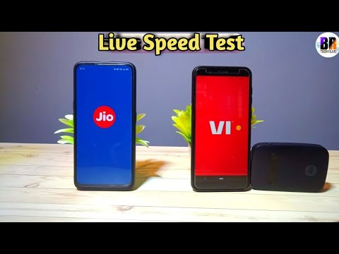 Jio 4G VS VI Live Speed test Which Is better ?
