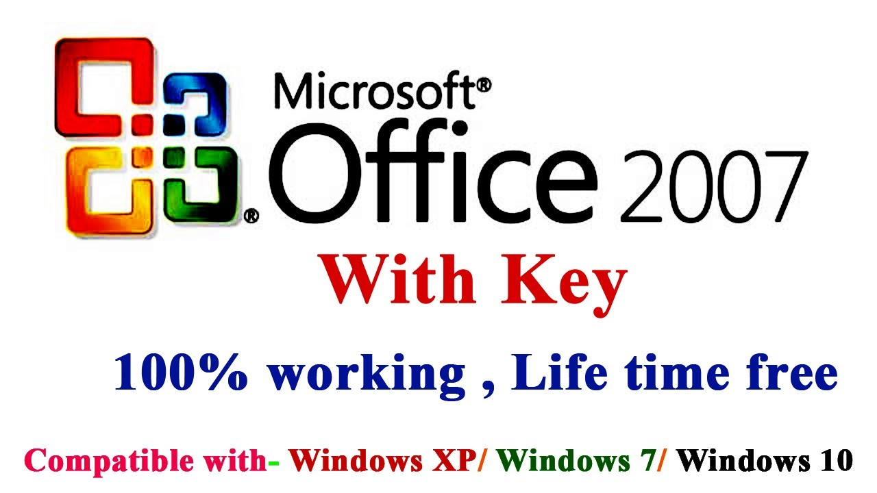 How to download & Install MS office 2007 100% Free Full version with Licence Key(Description)!