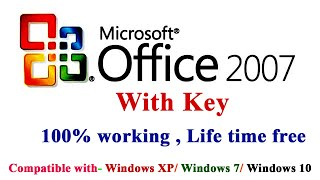 Gambar cover How to download & Install MS office 2007 100% Free Full version with Licence Key(Description)!