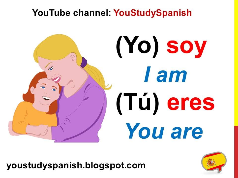 Spanish lesson conjugate verb ser conjugation present tense and estar to be also rh youtube