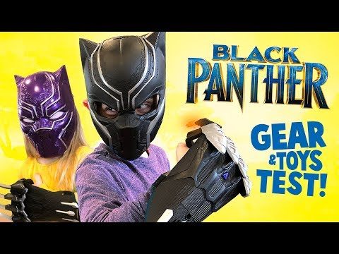 Black Panther Movie Gear Test & Toys Review for Kids!
