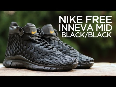 Quick Look  Nike Free Inneva Woven Mid SP - Black - YouTube a19cc0ee1b23