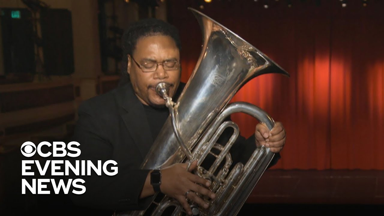 Tuba player finds harmony after overcoming homelessness ...