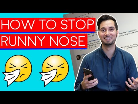 Runny Nose | How To Get Rid Of A Runny Nose | How To Stop A Runny Nose