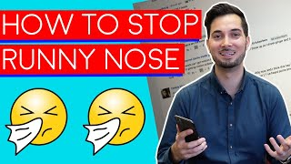 Runny Nose  How To Get Rid Of A Runny Nose  How To Stop A Runny Nose