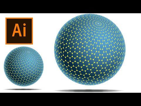 Spherical Polygons Net Design in Illustrator | Illustrator Tutorials thumbnail