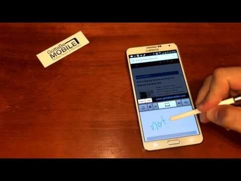 How to use Handwriting Recognition on the Galaxy Note 3