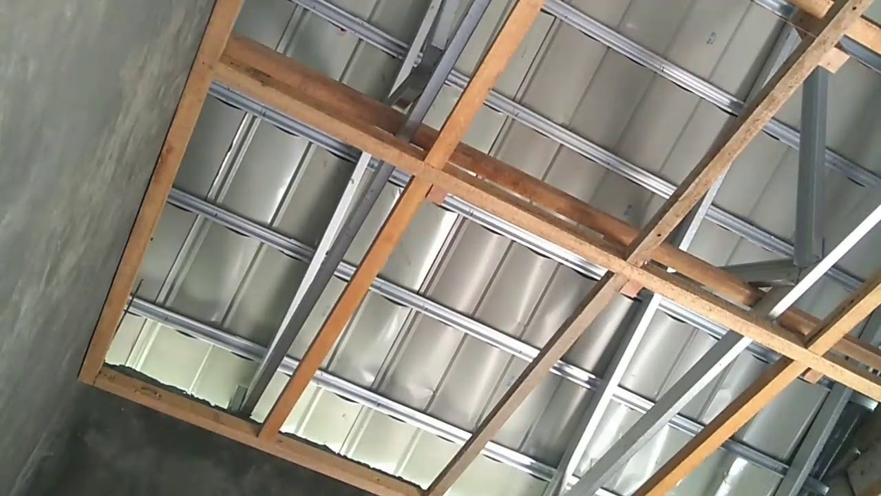 Pasang Plafon Sendiri Desain Minimalis Mudah Dan Murah Dengan Kalsiboard Hardboard Atau Gypsum Grc Youtube Cara memasang plafon triplek