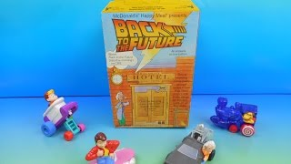 1991 BACK TO THE FUTURE ANIMATED SET OF 4 McDONALD