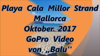 Cala Millor Strand GoPro Okt 2017 HD