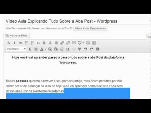 Curso Wordpress   Aba Post Parte I