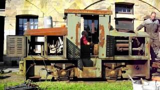 Démarrage locotracteur DIEMA DS90 fort de Bois l