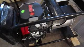 видео Europower EP 200 Х/25 DC - сварочный бензогенератор   7 кВА 230/380В
