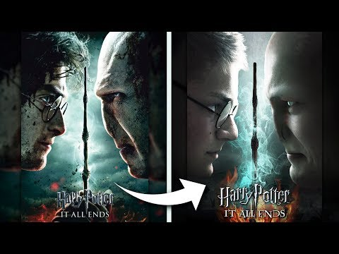 RECREATING HARRY POTTER POSTERS!