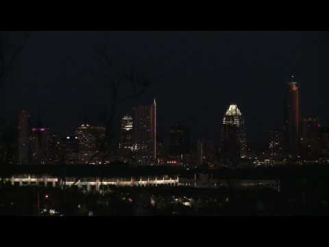 Austin Skyline Night (Night Sun) 2009
