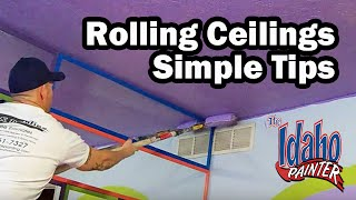 How To Paint A Ceiling With A Roller.  Painting A Ceiling.