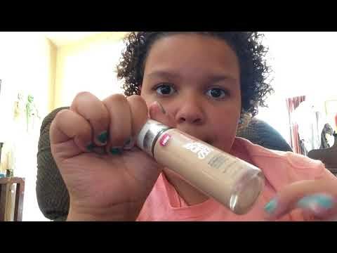 ASMR tapping on makeup products