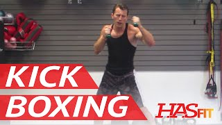 BEST 30 Minute Cardio Kickboxing Workout - Aerobic Cardiovascular Exercises - HASfit Cardio Training