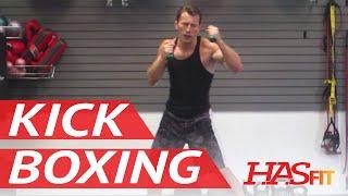 BEST 30 Minute Cardio Kickboxing Workout - Aerobic Cardiovascular Exercises - HASfit Cardio Training thumbnail