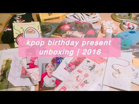 kpop birthday present unboxing   2018